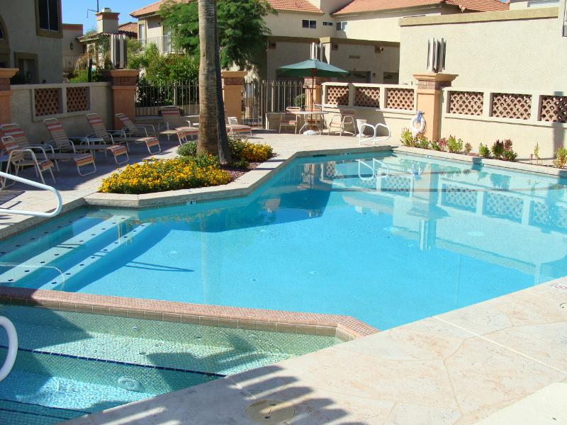 1 of 3 heated pools gated w spas and showers /bathrooms