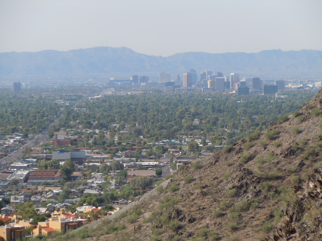 Down Town Phx skyline from N Mountain