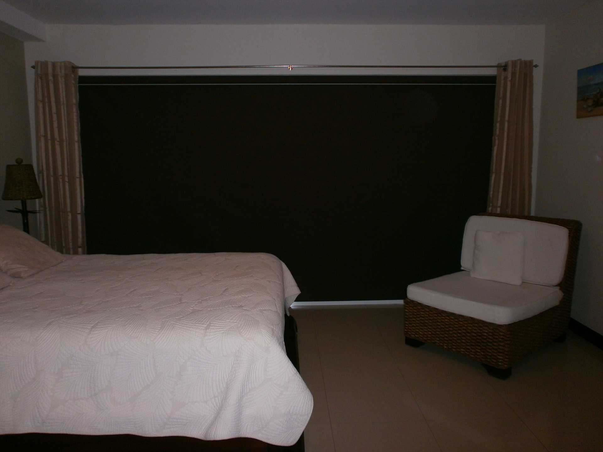 Black-out system in your studio condo!