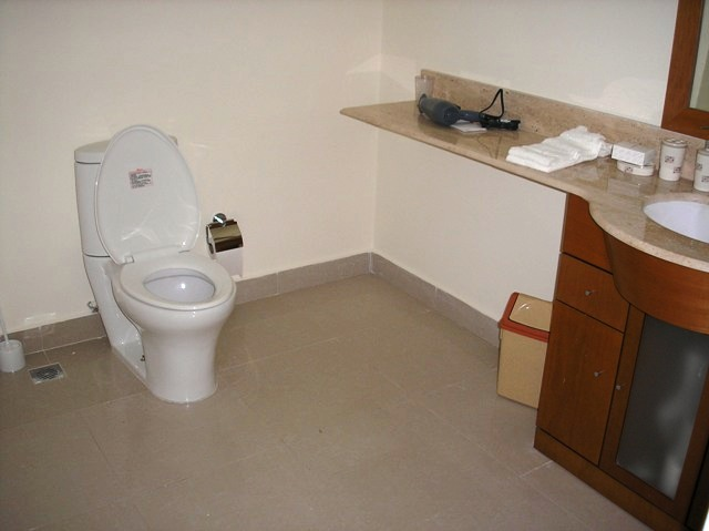 Spacious and modern full bathroom (with shower) adjacent to your walk-in closet