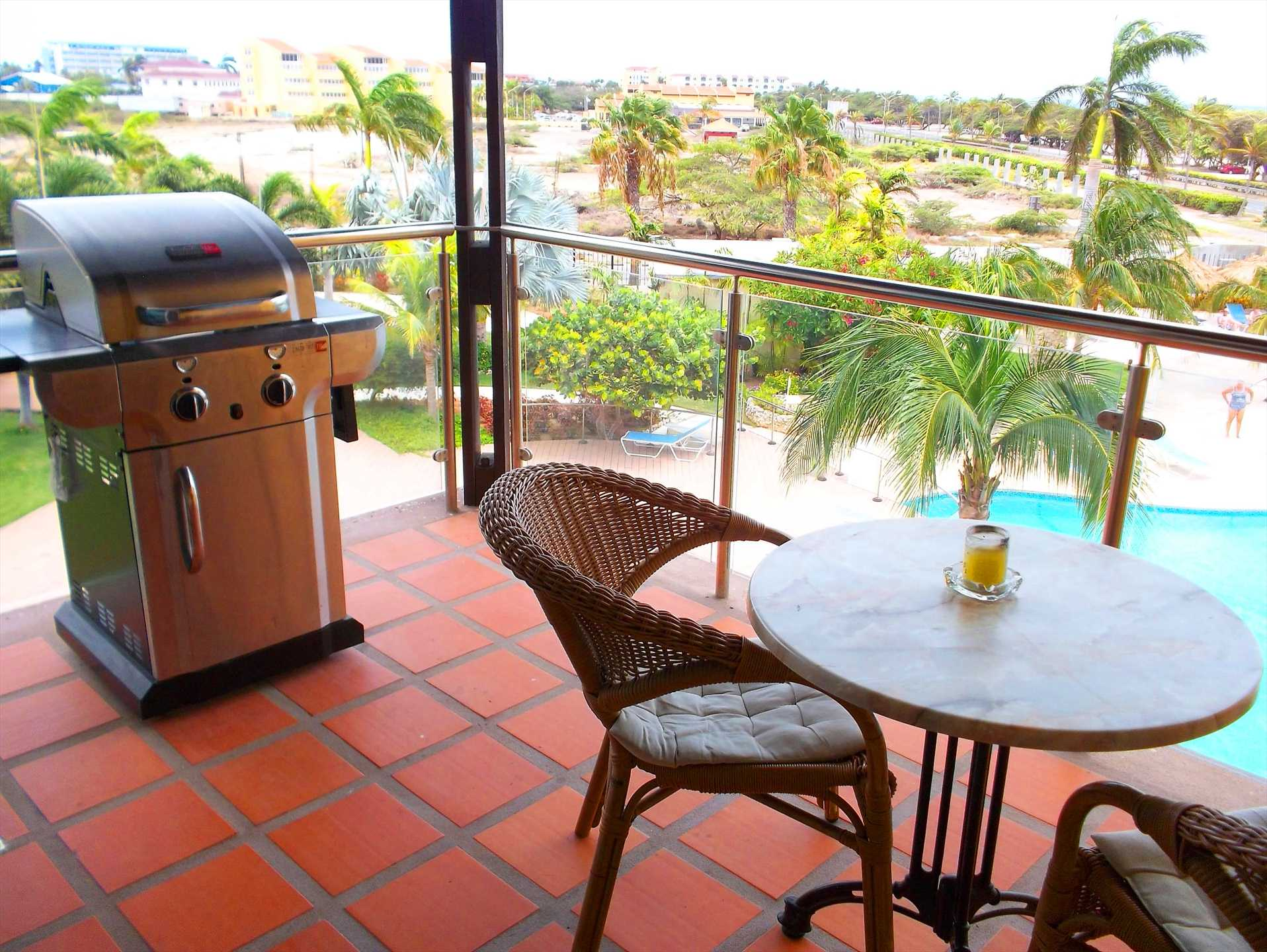 Your own BBQ grill on the balcony.