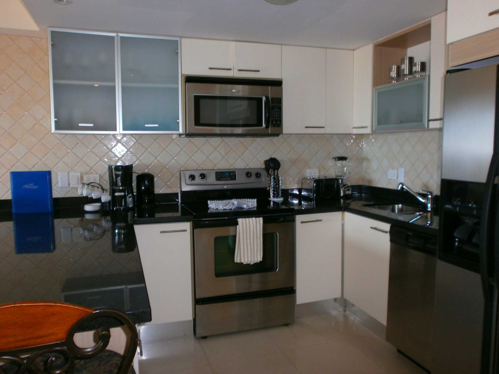 Full-sized fully equipped modern kitchen