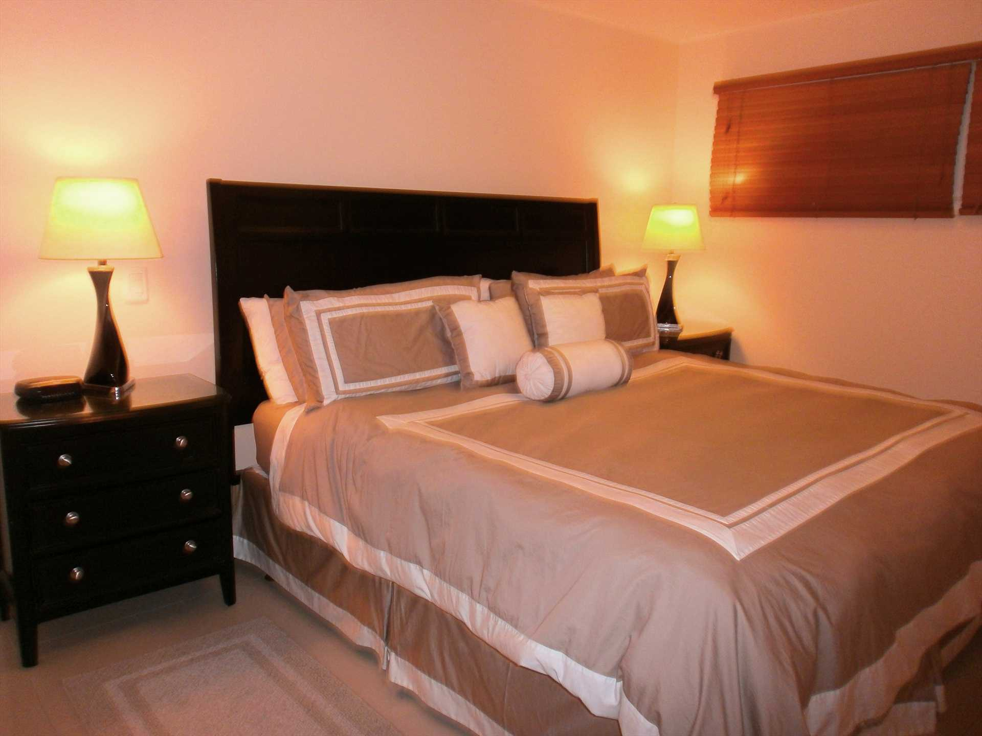 King-size bed in master bedroom