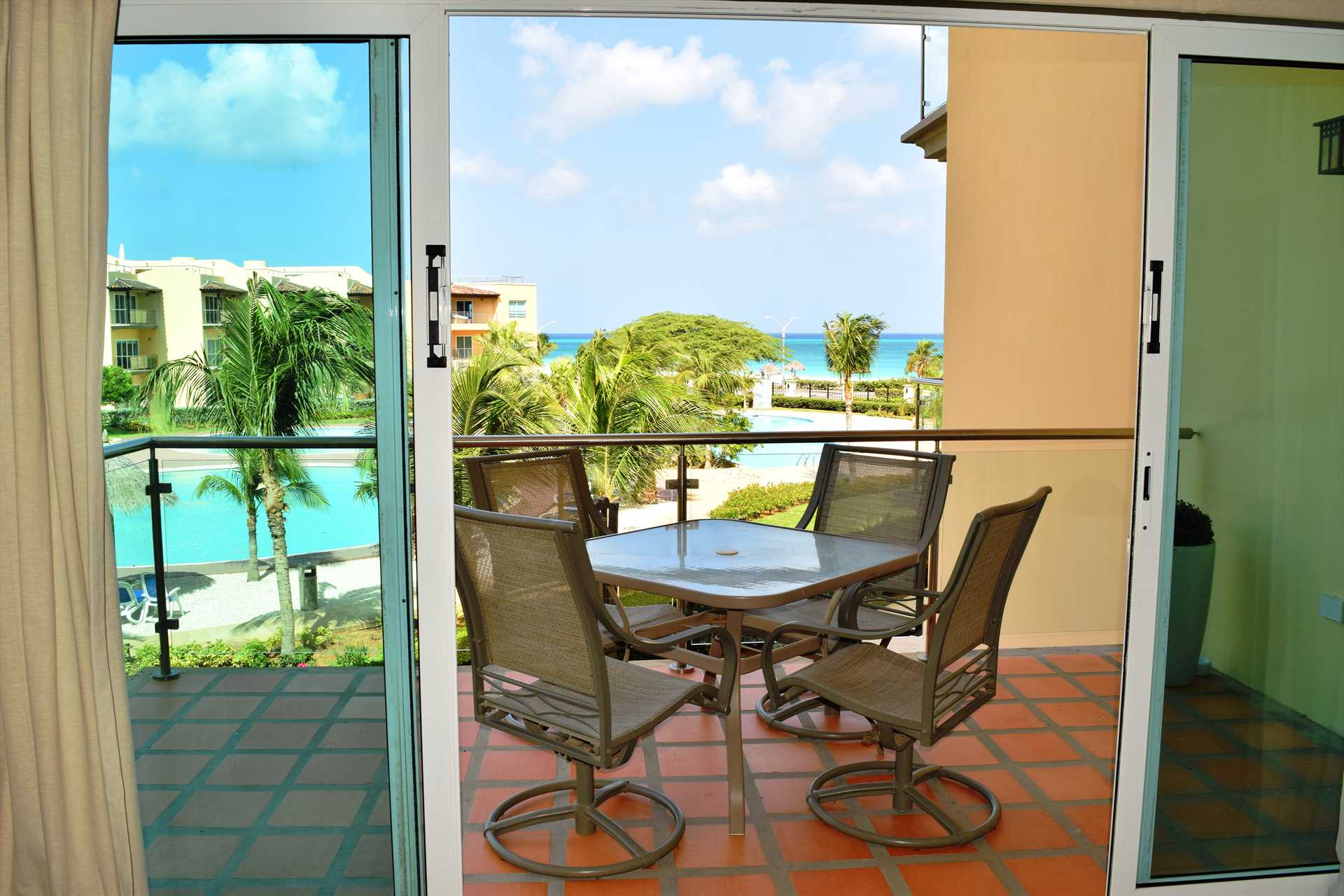 Enjoy amazing views from the living area balcony