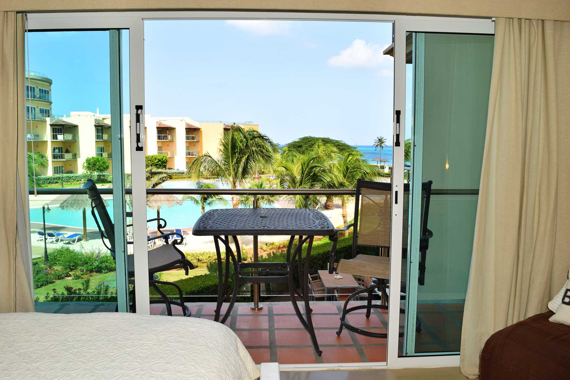 Master bedroom with private balcony with great ocean view too
