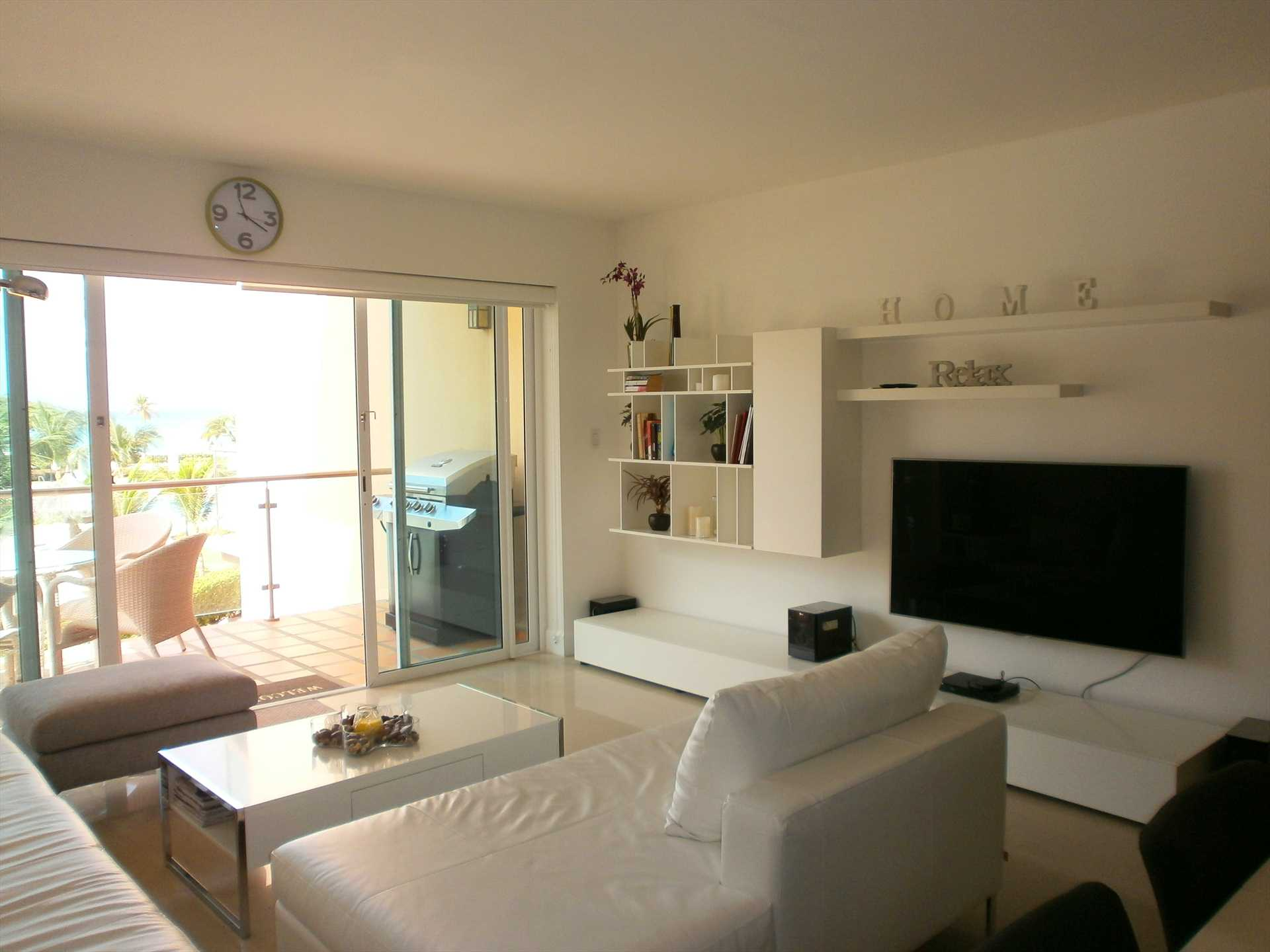 Easy access to balcony from living room