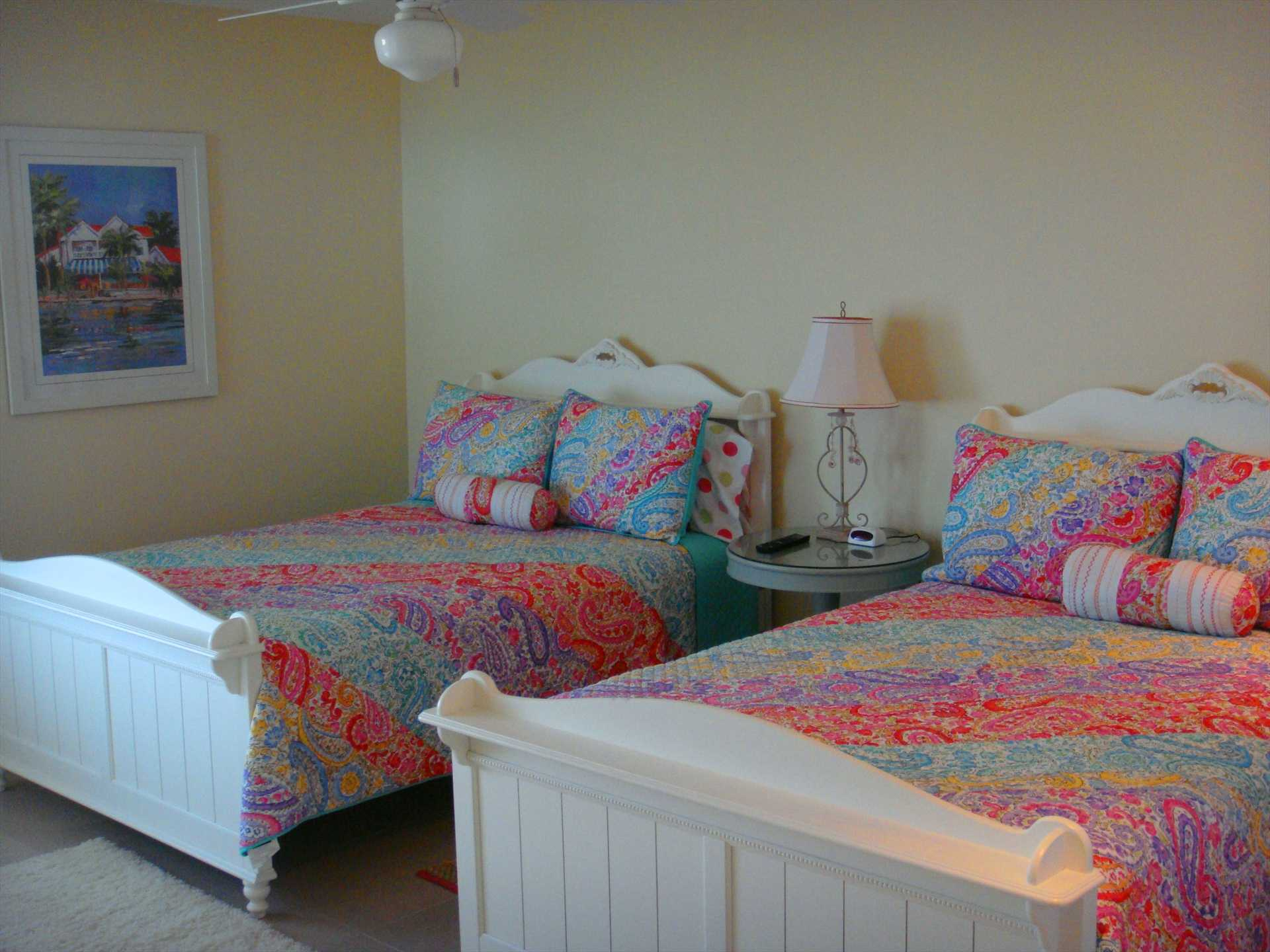 Very spacious third bedroom with two double (=full-size) beds!