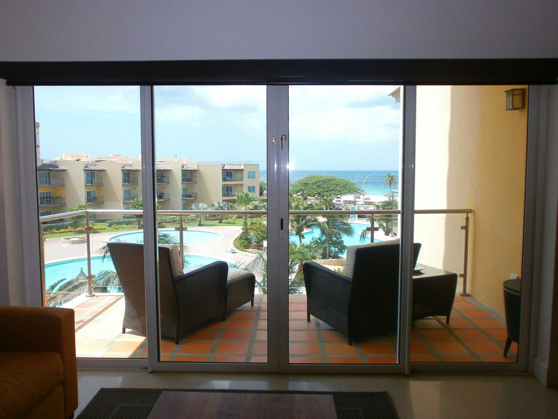 Easy access to balcony from the living room