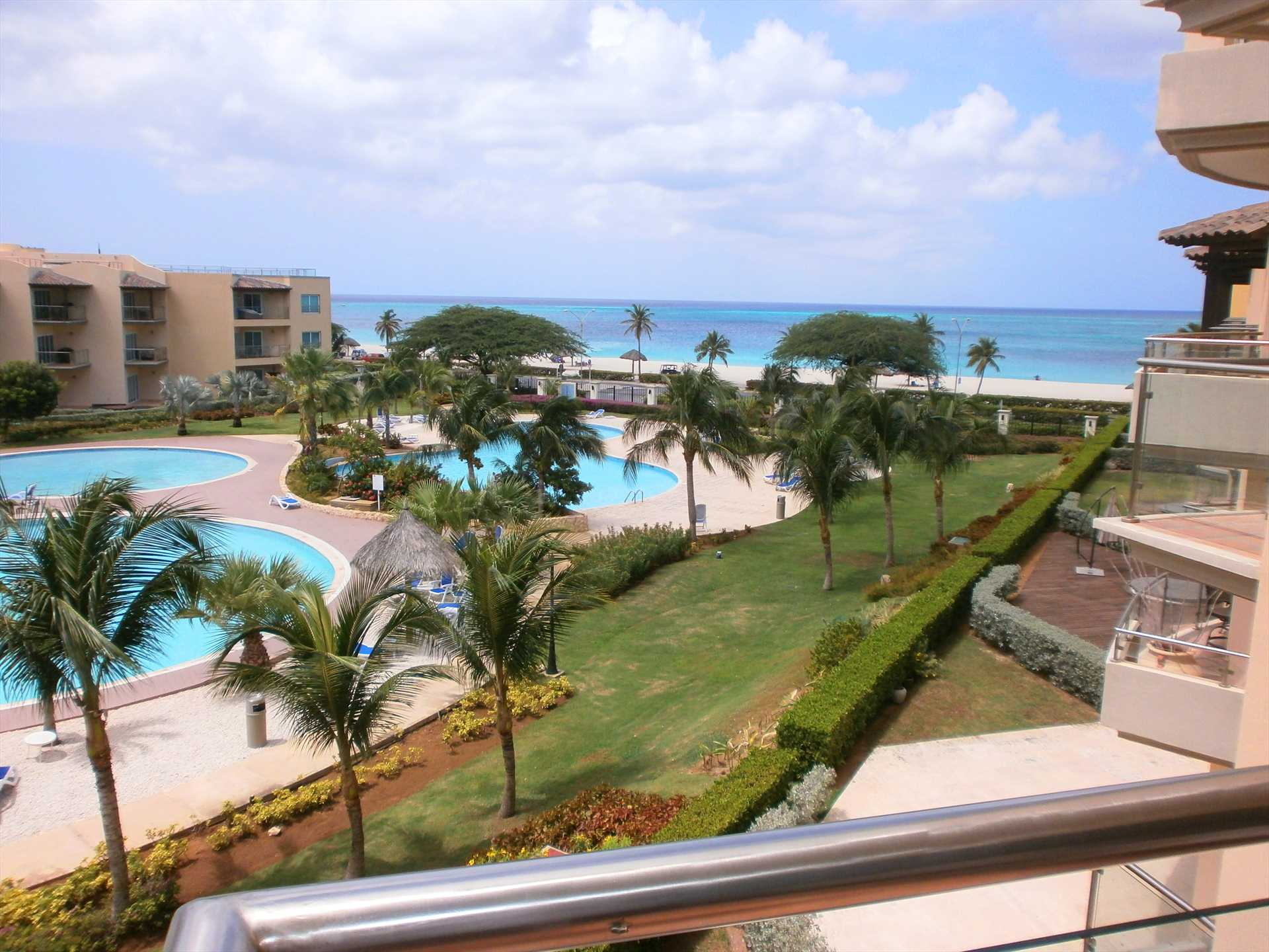 Your pool and ocean view from the balcony