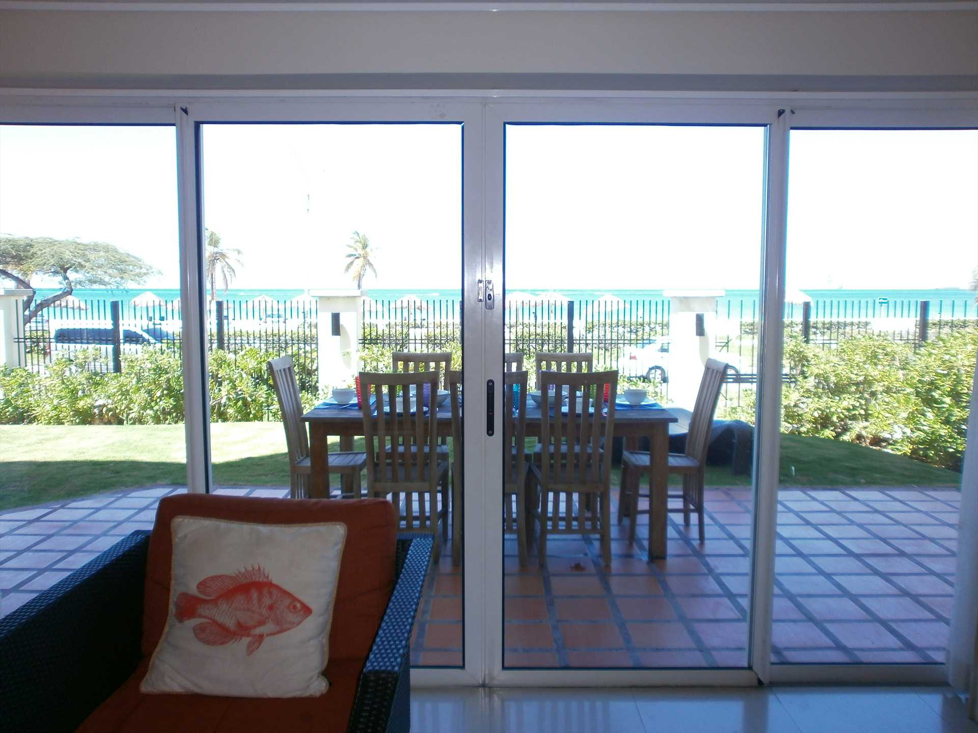 View of the beach and ocean from your living room