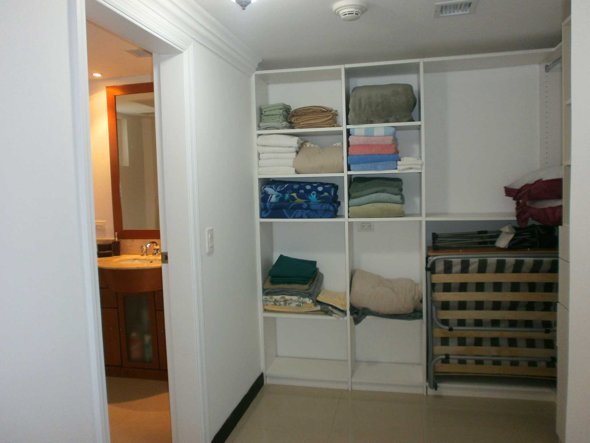 Walk-in closet and entree to bathroom