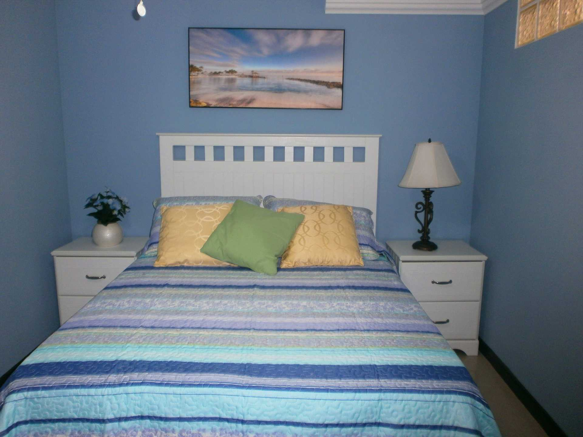 Second bedroom with double-size bed.
