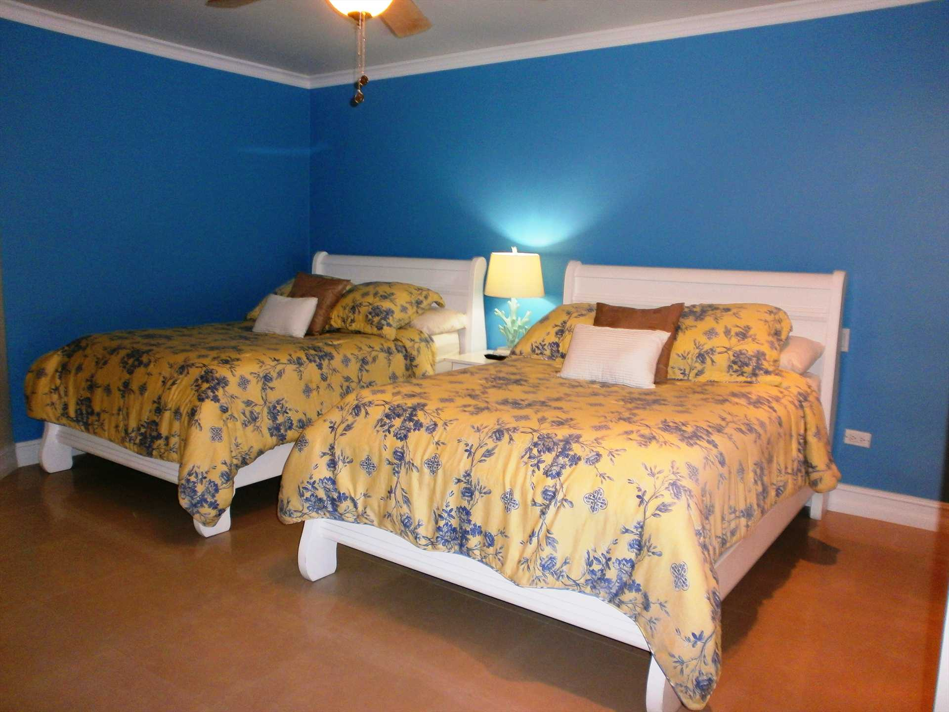Spacious room with two comfortable double (full-size) beds