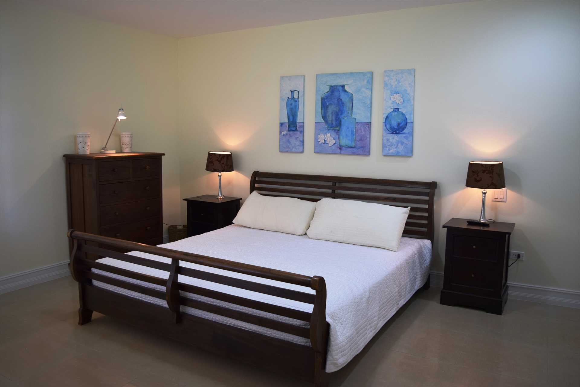 Second master bedroom with king-size bed