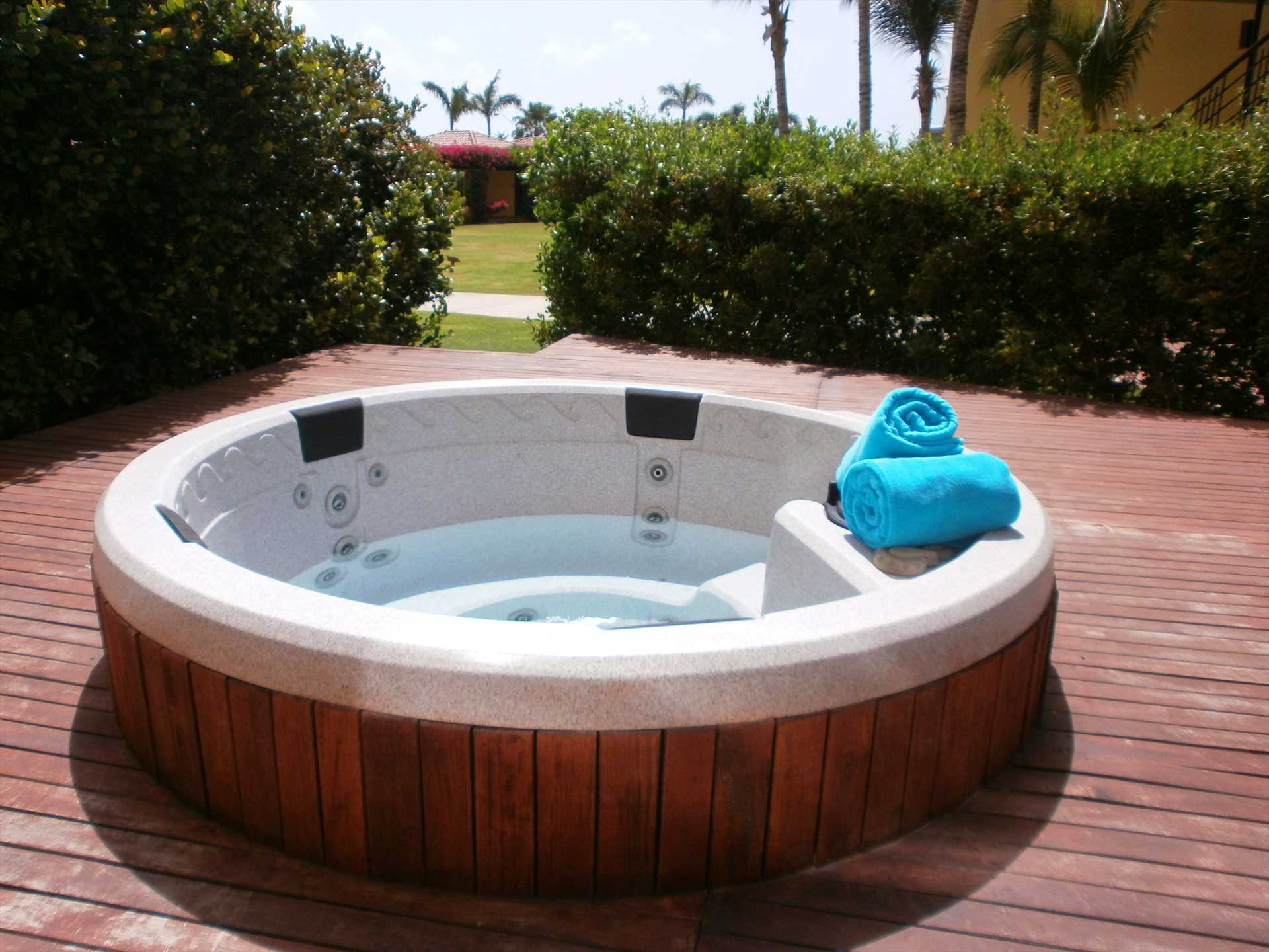 Your own private hot tub awaits you!!