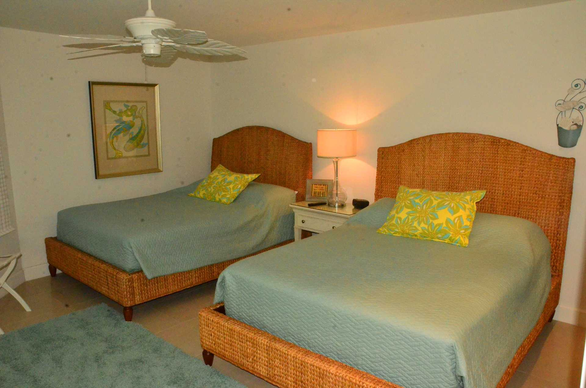 Third bedroom with two Queen size beds