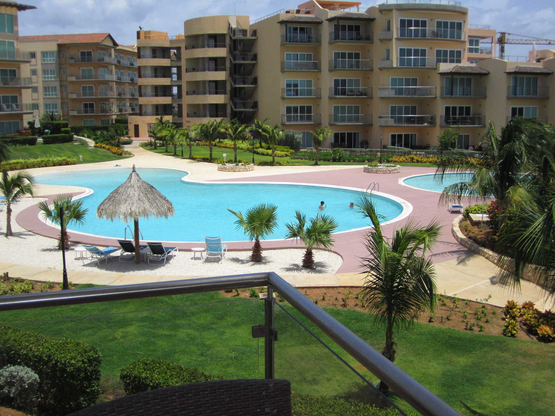 Great views from balconies to the resort's premises.
