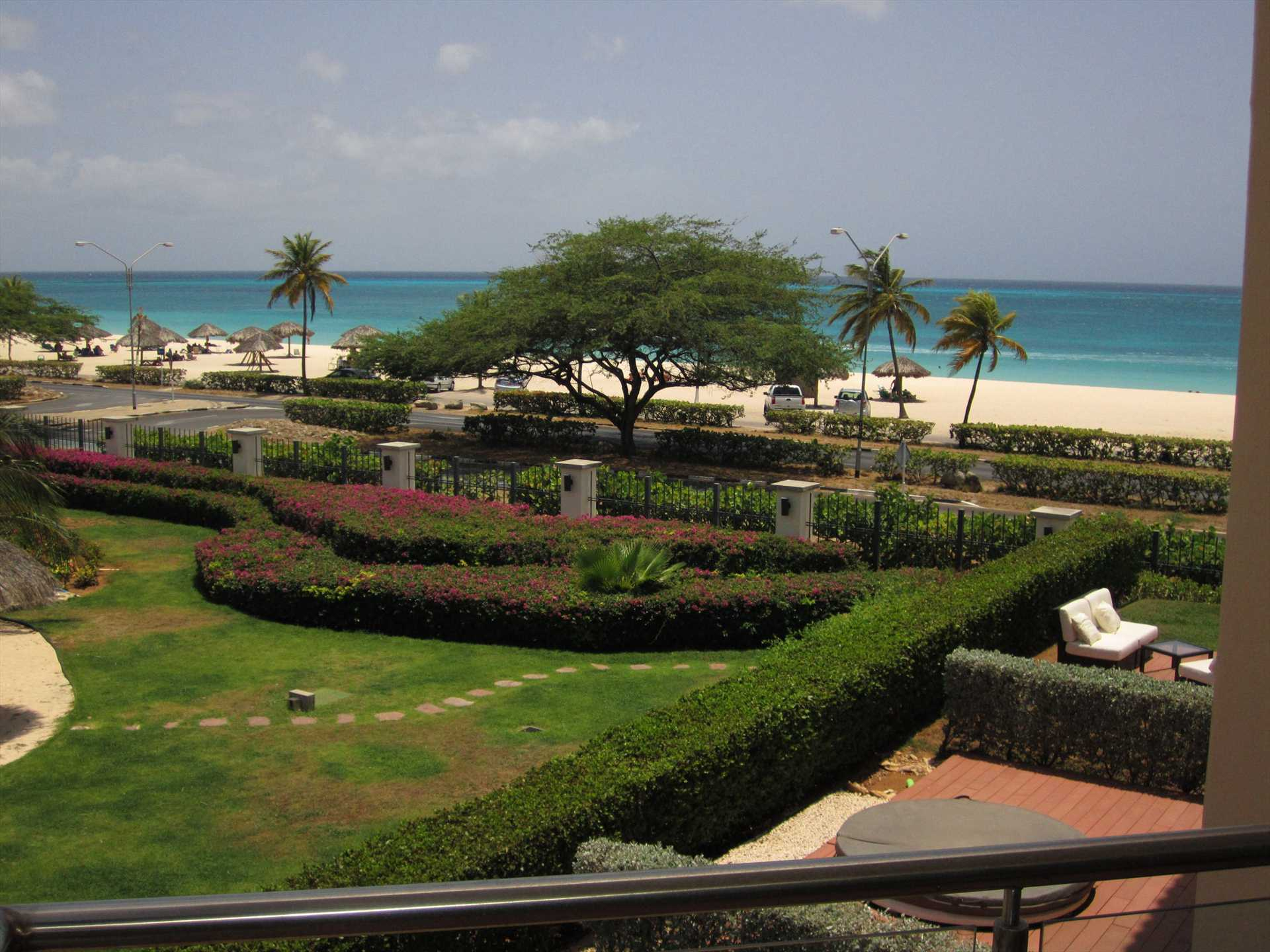 The royal ocean view from all of the three balconies!