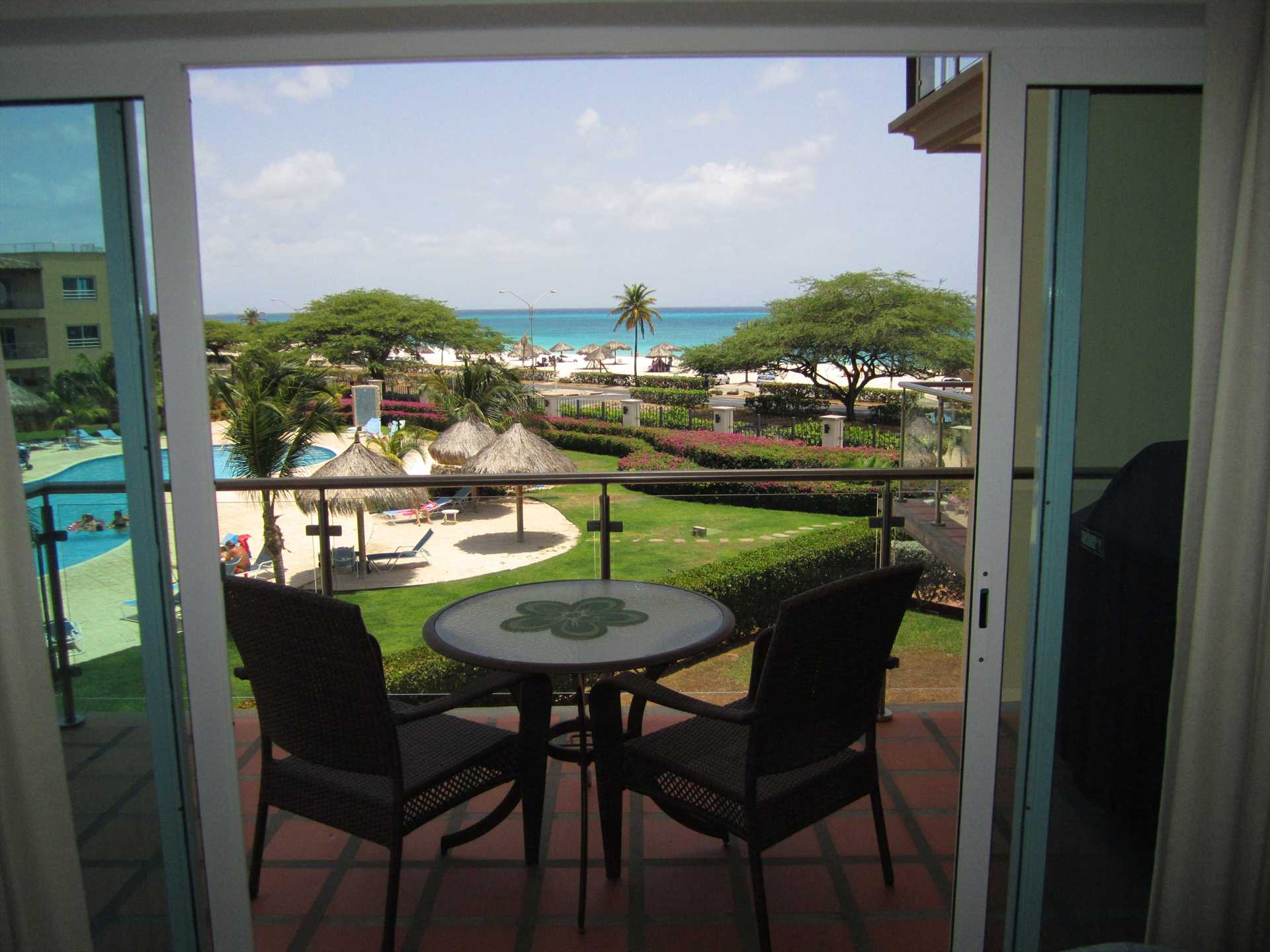 View to the ocean from your living room balcony