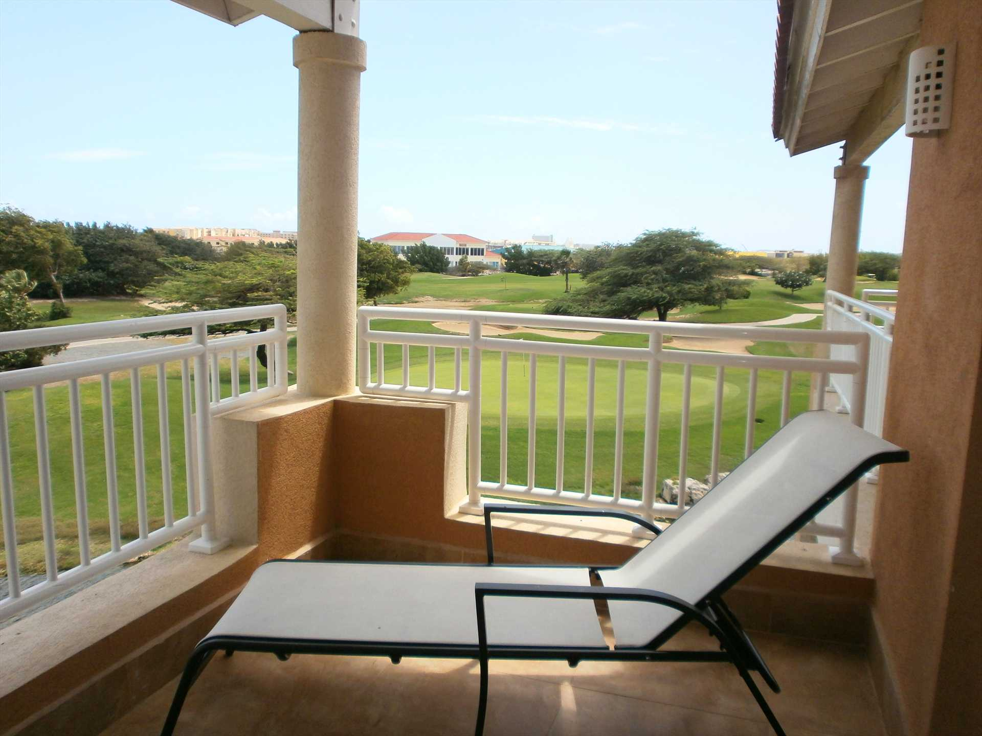 Enjoy in your private balcony the serene sounds of the surrounding nature.