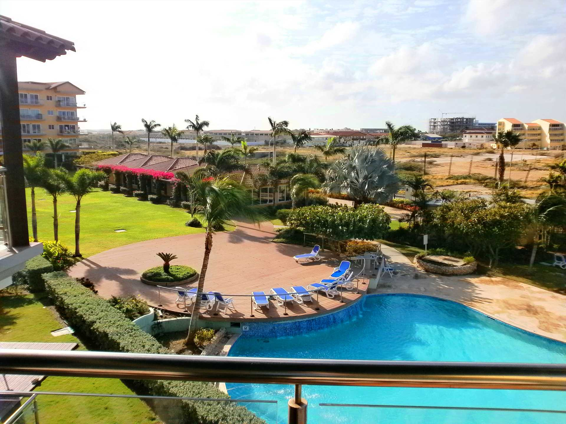Overlooking one of the swimming pool area of Oceania.