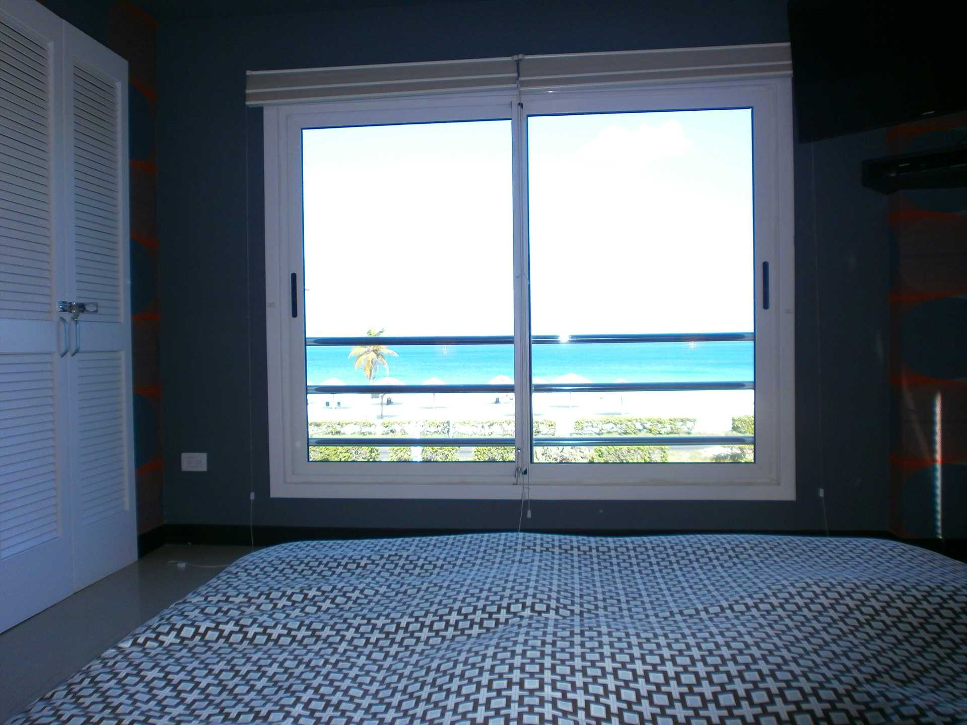 Second bedroom with HDTV, built-in closet and also Ocean VIEW!