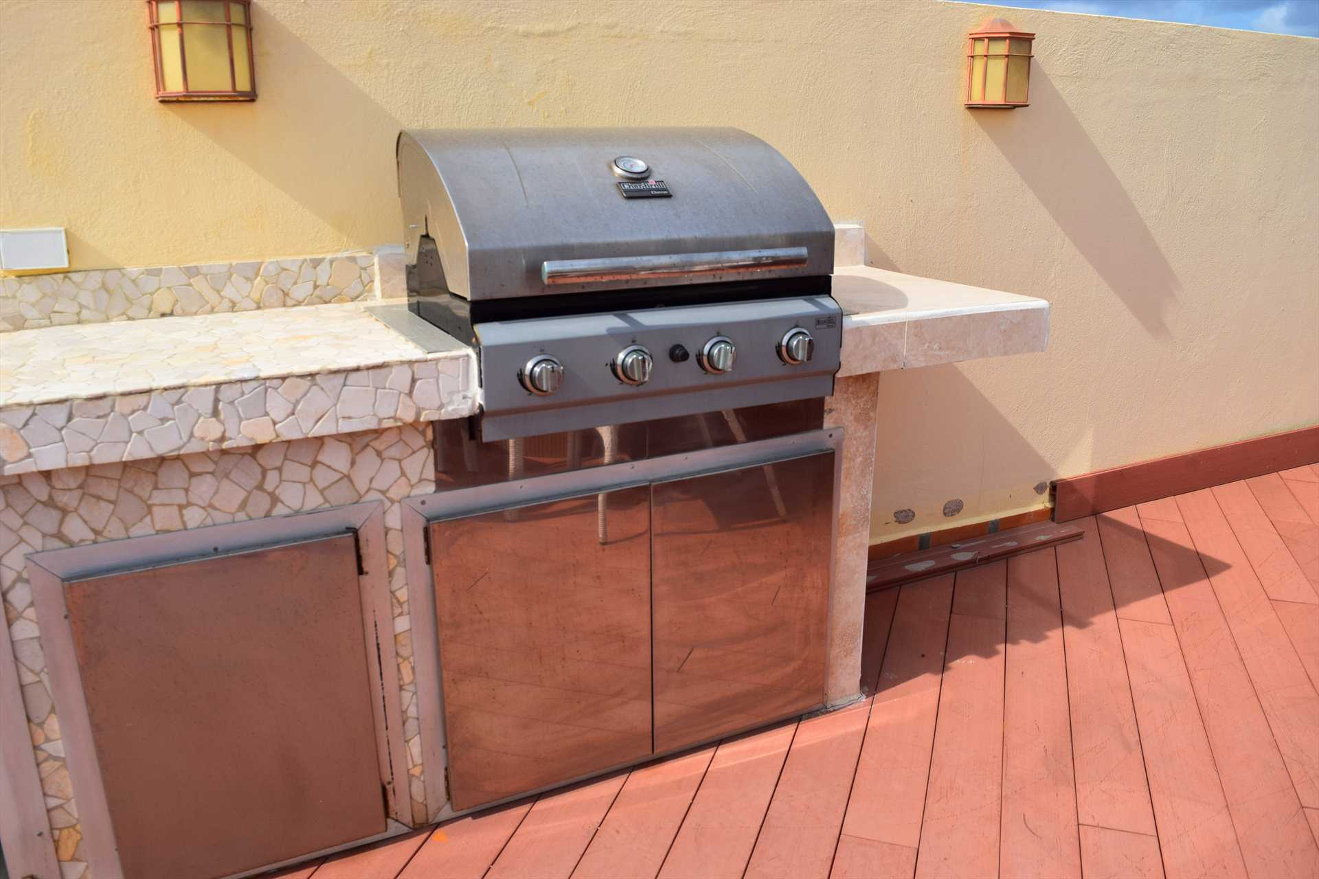 Built-in full-size BBQ-grill