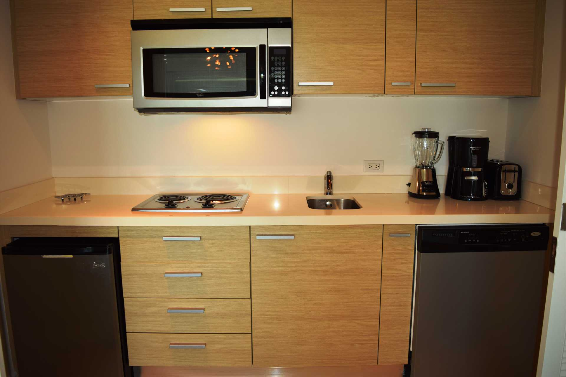 Kitchenette that can be closed off