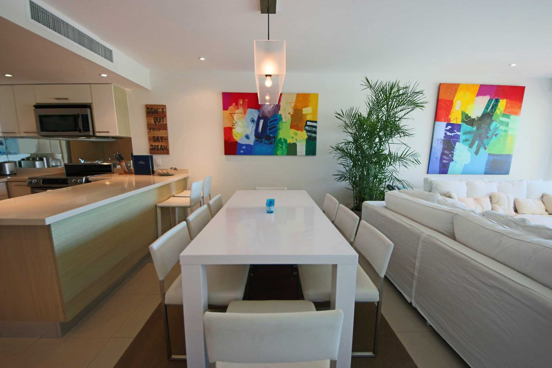 8-seat dinning table in living room