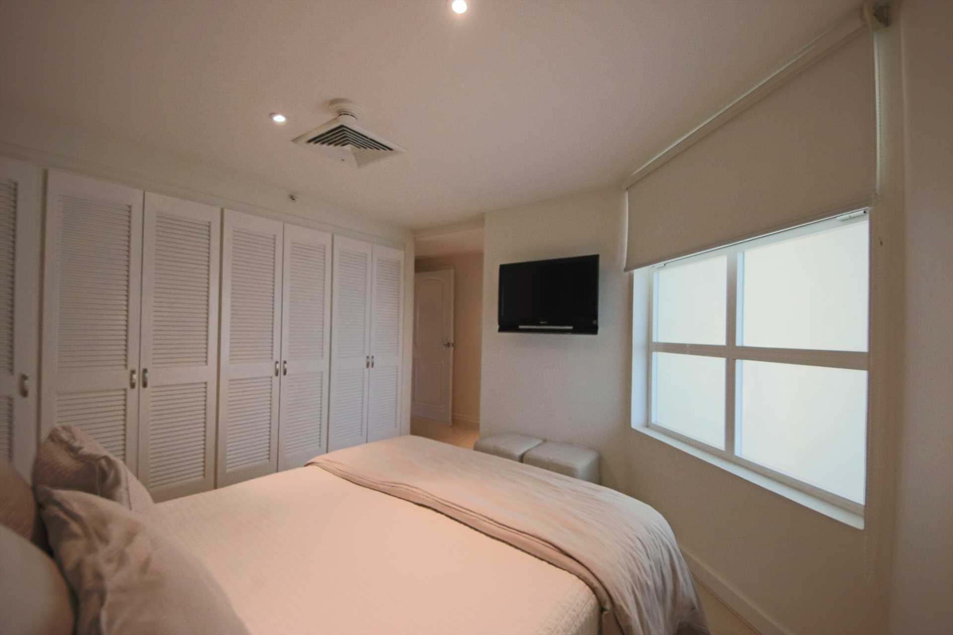 Abundant closet space and HDTV in third bedroom