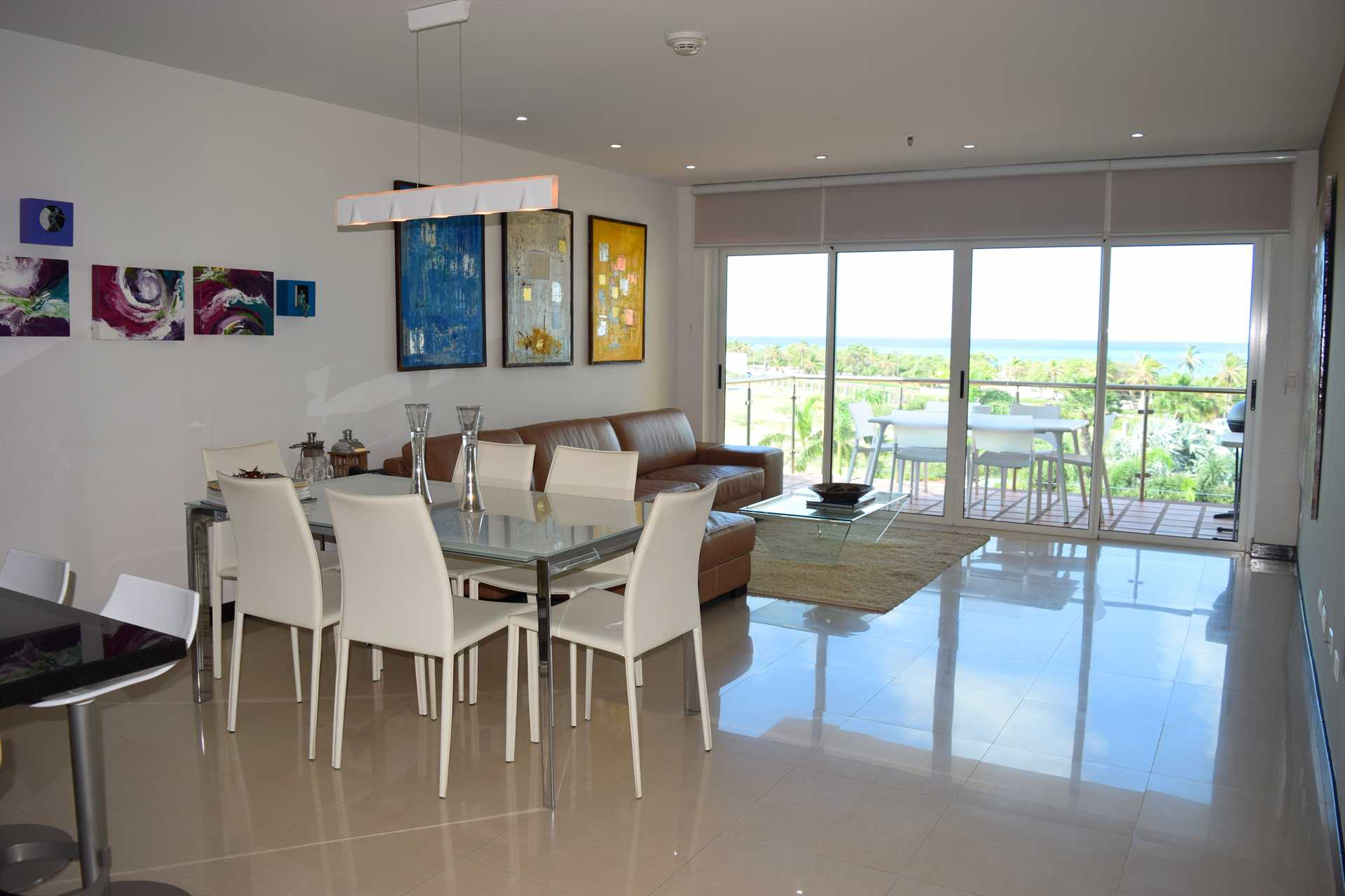 Your spacious living area with ocean view