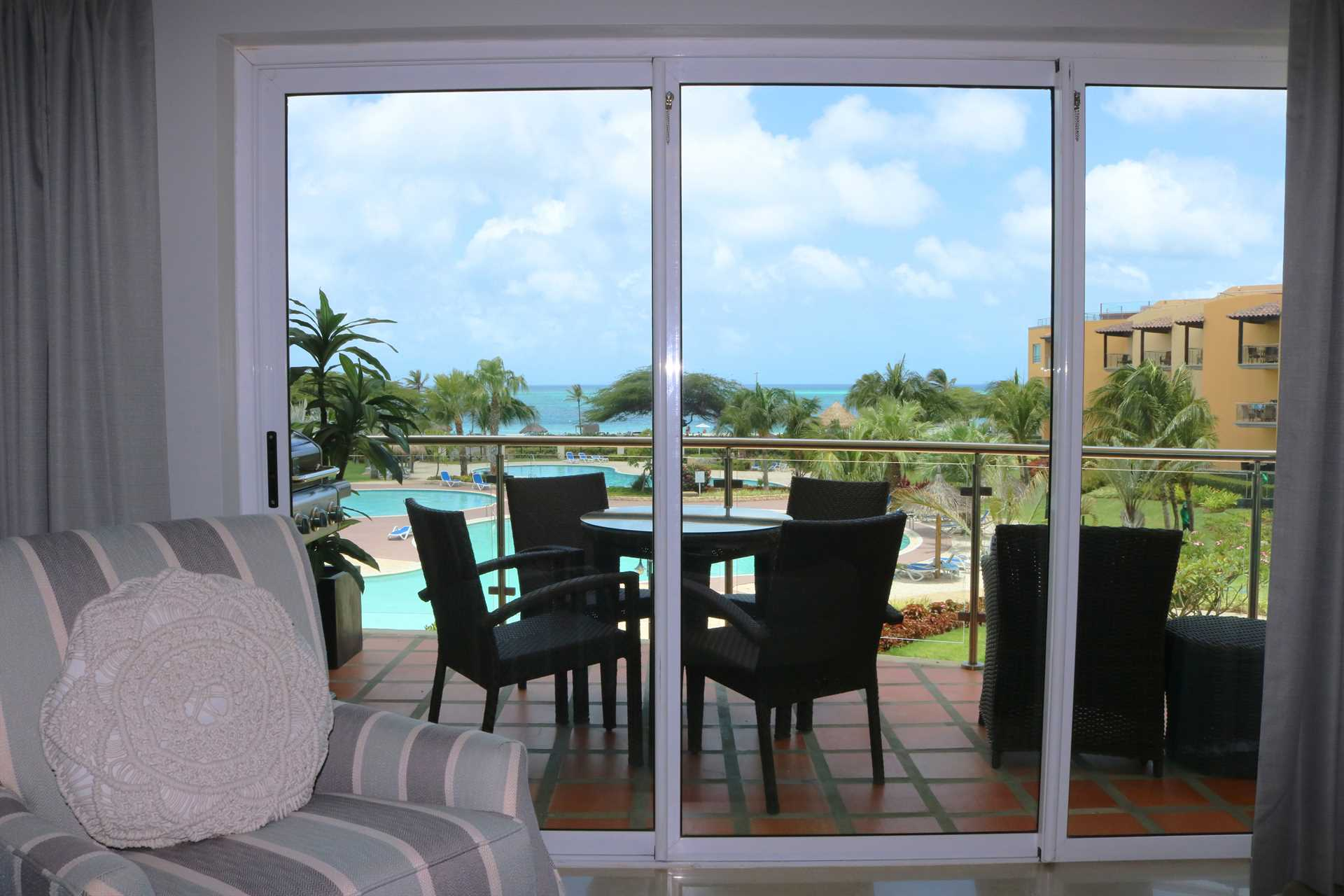Your ocean view from the living room