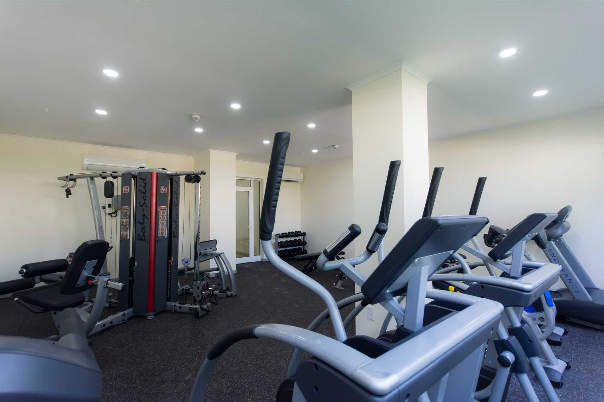 The gym room at the LeVent resort