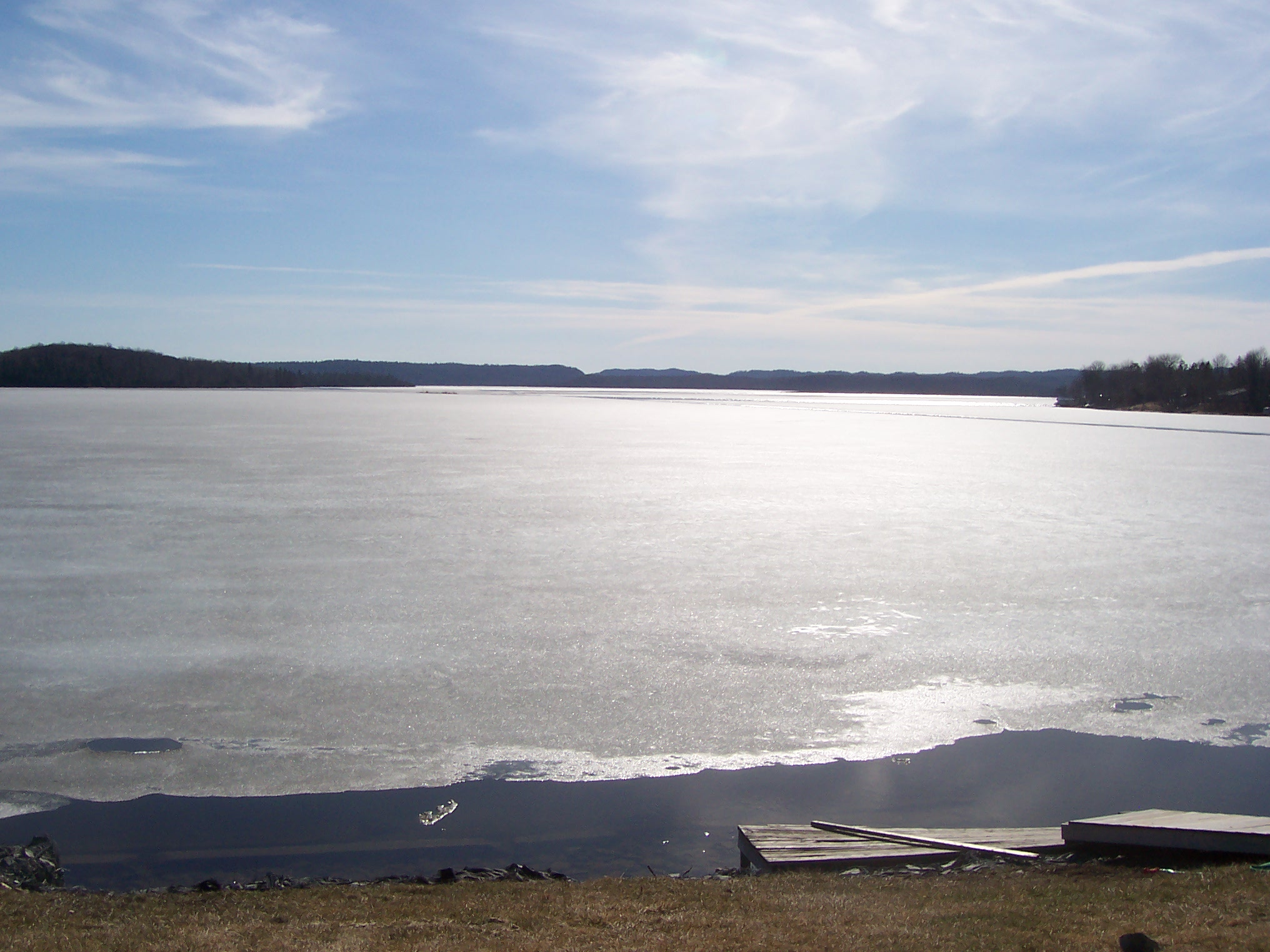 View of lake from cottage property..