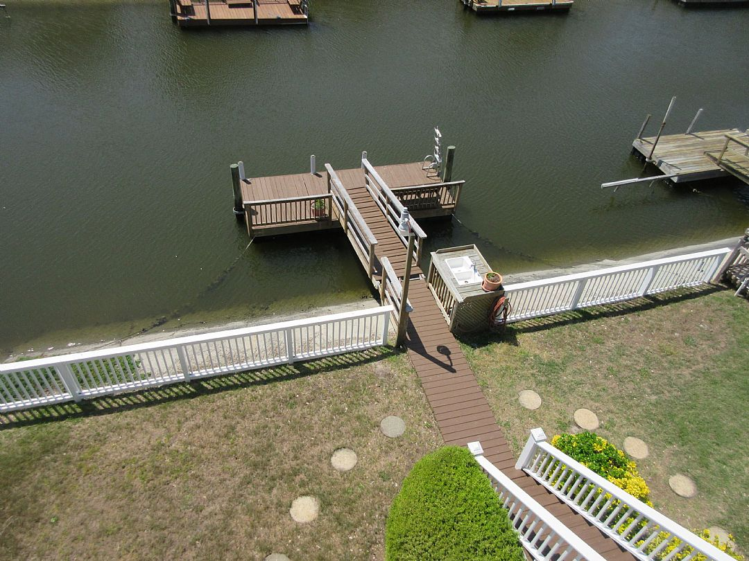 private dock with fish cleaning station