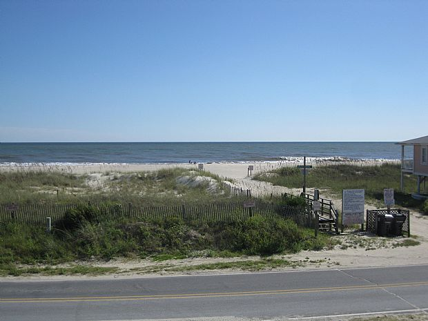 VIEW FROM DECK - BEACH ACCESS