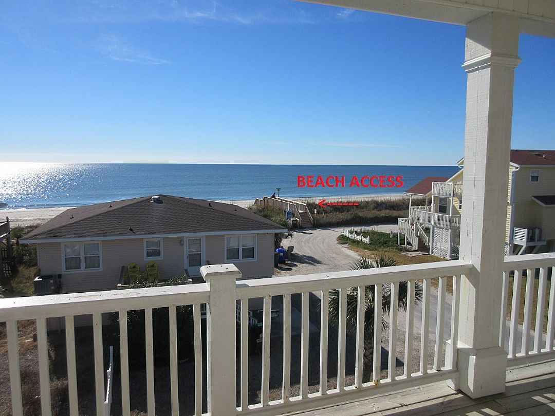 beach access picture taken from second level deck