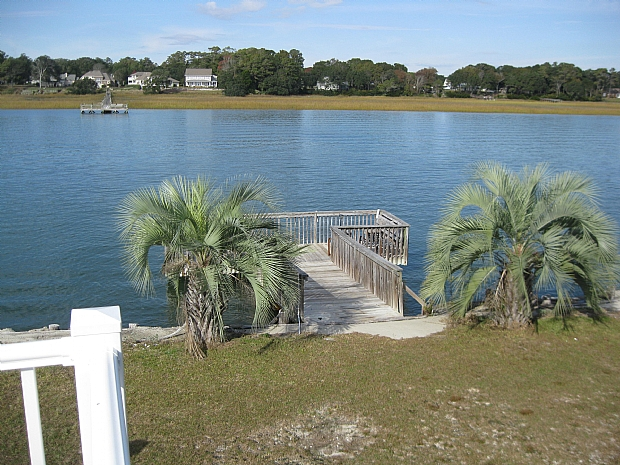 private pier on Intracoastal Waterway