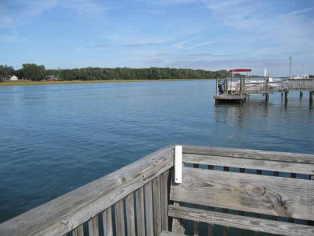 view from waterway pier
