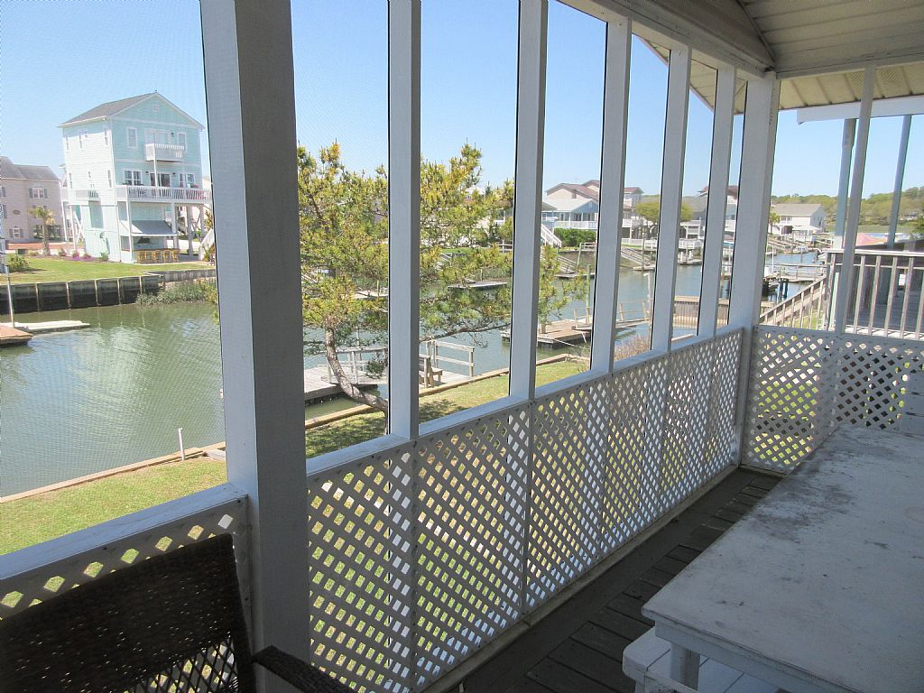screened canal side deck