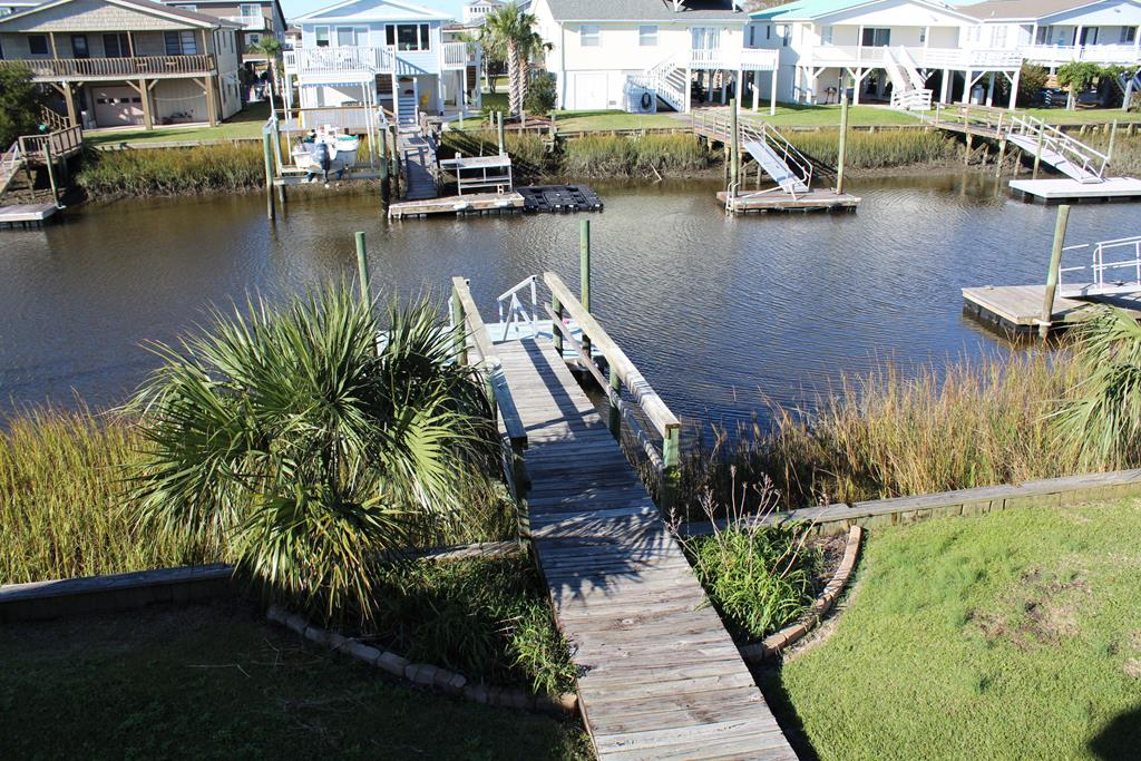view from deck private dock