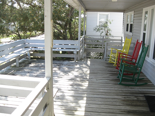 Covered deck and sundeck