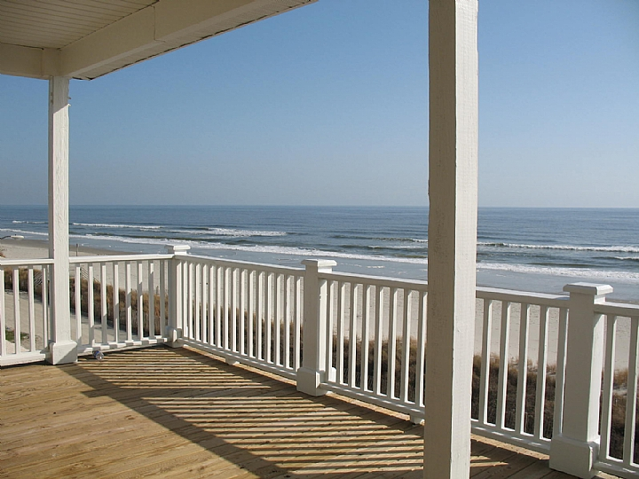 view from living area upstairs deck