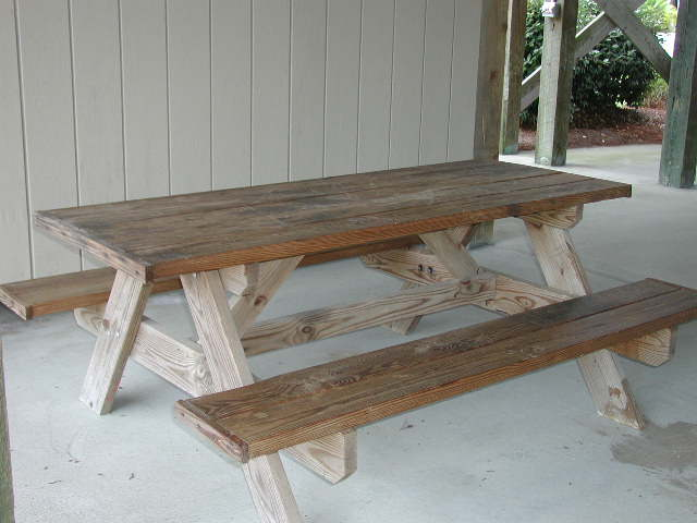 picnic table ground level