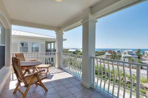 Beautiful balcony view of the ocean on Sea Grove Beach FL - 4 Bedrooms • Sleeps 10 Near the Ocean