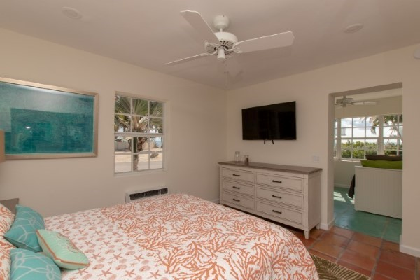 Master TV and Sunroom Entry