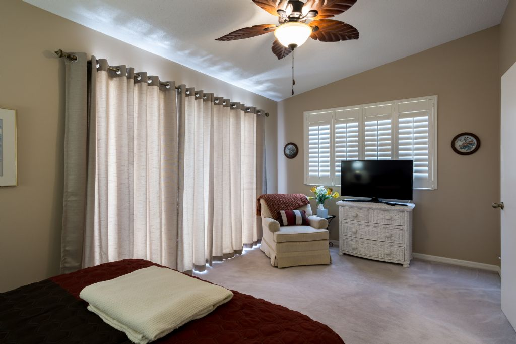 Master bedroom with smart TV