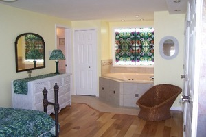 Bedroom with jacuzzi tub  - Albrightsville  Poconos Mountains PA
