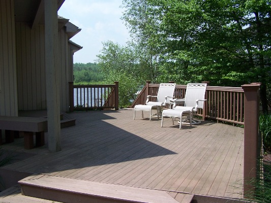 House Cabin Outside Deck Albrightsville House - Heart of The Poconos