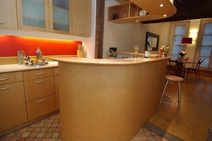 Kitchen with counter top